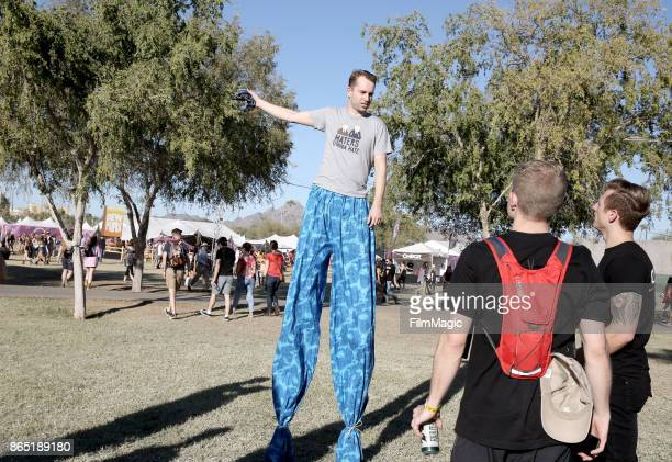 Festivalgoers seen during day 3 of the 2017 Lost Lake Festival on October 22 2017 in Phoenix Arizona