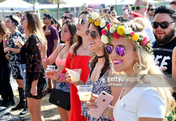 Festivalgoers watch Frenship perform at Camelback Stage during day 2 of the 2017 Lost Lake Festival on October 21 2017 in Phoenix Arizona