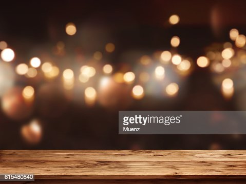 Festive background in front of empty table : Stock Photo