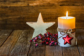 Christmas candlelight with decoration.