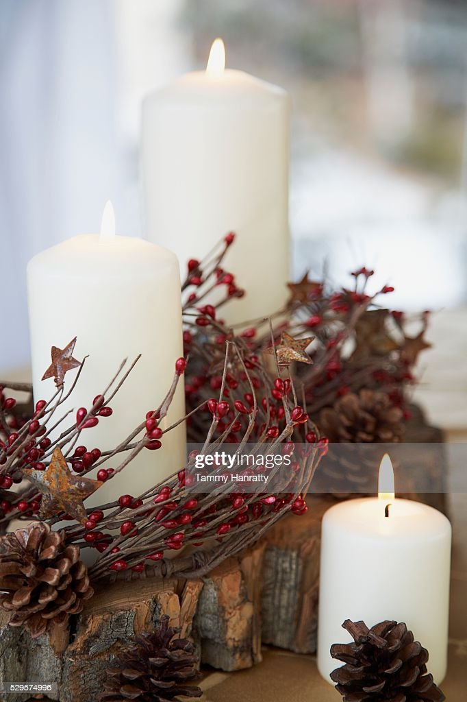 Festive Christmas Centerpieces : Stock Photo
