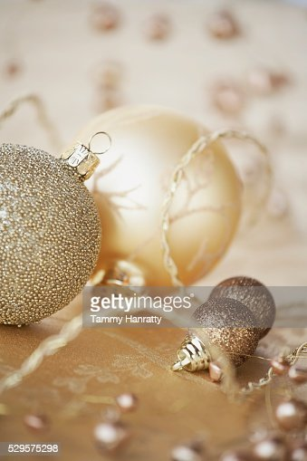 Festive Christmas Decorations : Foto de stock