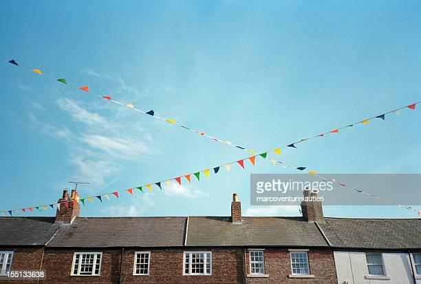 Festive colorful pennants