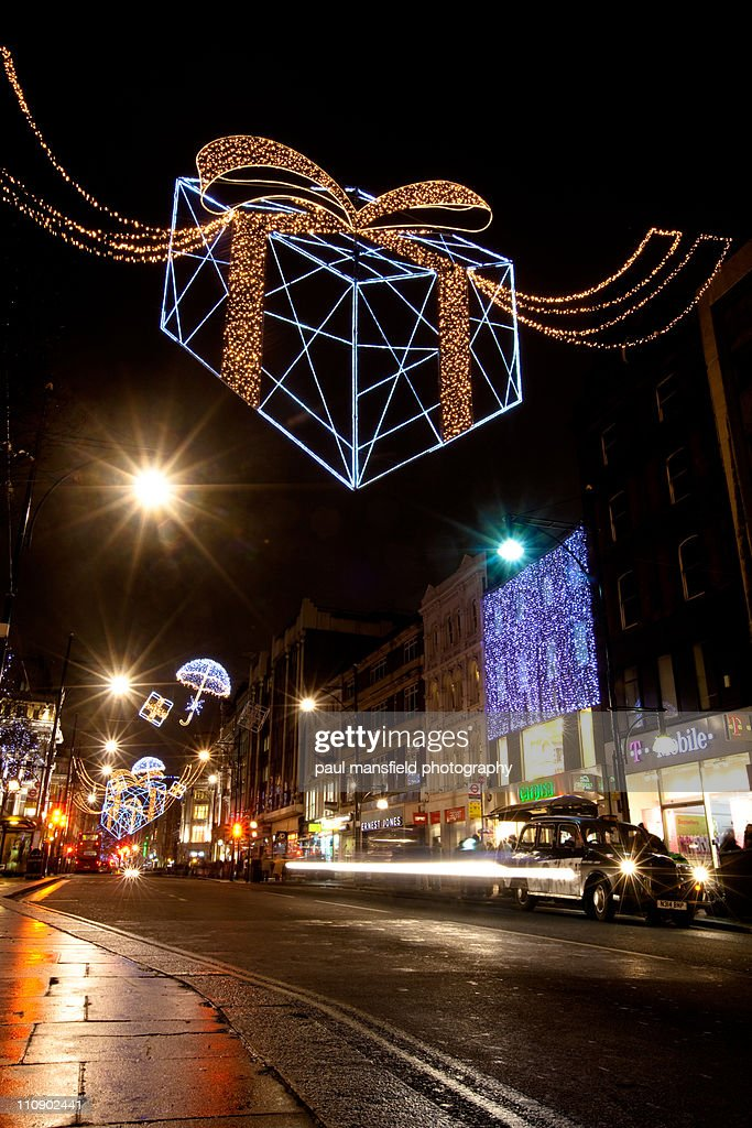 Festive decorations on Oxford Street, London