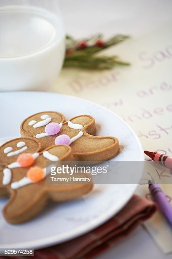 Festive Gingerbread Cookies : Stockfoto