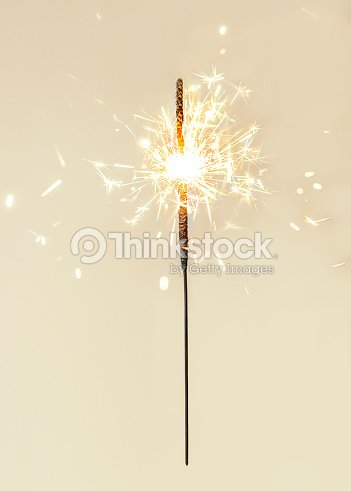 Festive Merry Christmas sparklers. Golden Magic lights for holiday poster, birthday or party concept. Sparkling beautiful sparkles or  bengal lights : Stock Photo