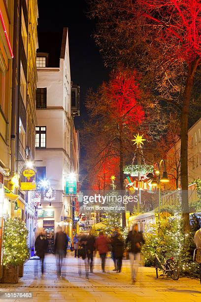 Festive streets of Cologne at christmas