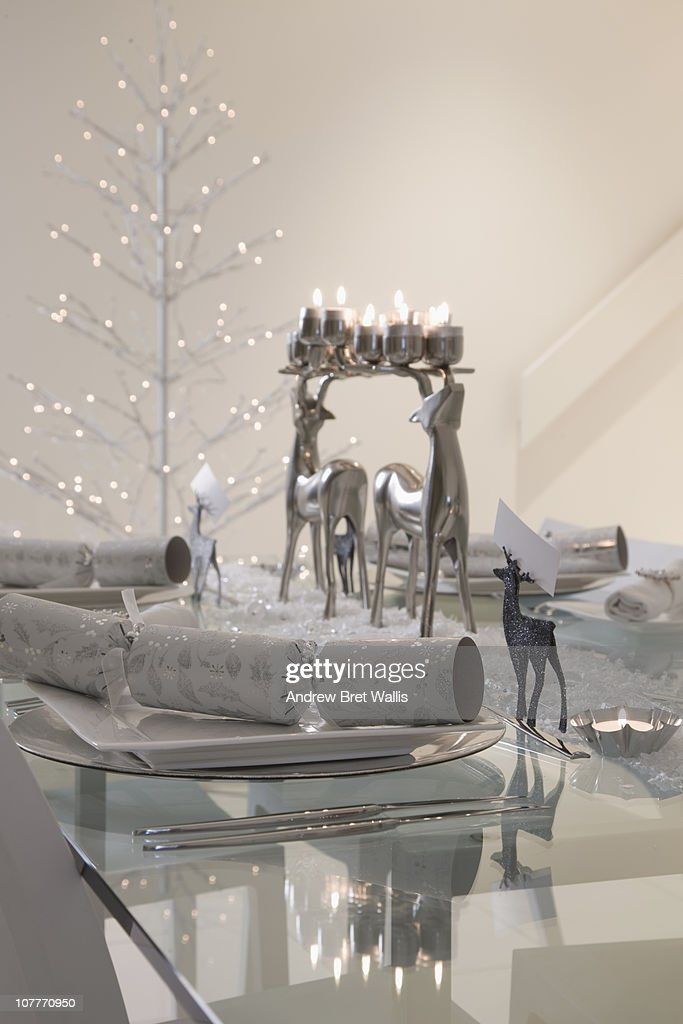 Festive Table Decorations Stock Photo  Getty Images