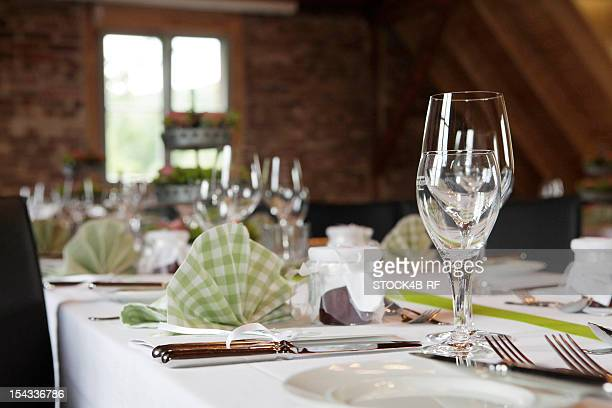Festive table in a restaurant