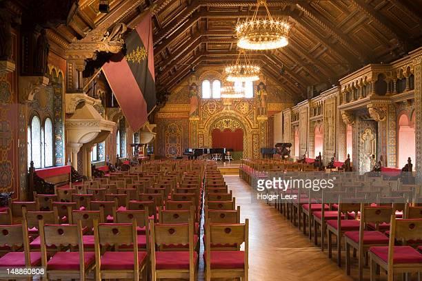 Festsaal festival hall in Wartburg medieval castle.
