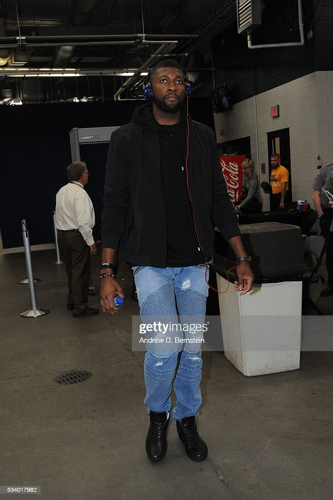 <a gi-track='captionPersonalityLinkClicked' href=/galleries/search?phrase=Festus+Ezeli&family=editorial&specificpeople=5725219 ng-click='$event.stopPropagation()'>Festus Ezeli</a> #31 of the Golden State Warriors before facing the Oklahoma City Thunder for Game Four of the Western Conference Finals during the 2016 NBA Playoffs on May 24, 2016 at Chesapeake Energy Arena in Oklahoma City, Oklahoma.