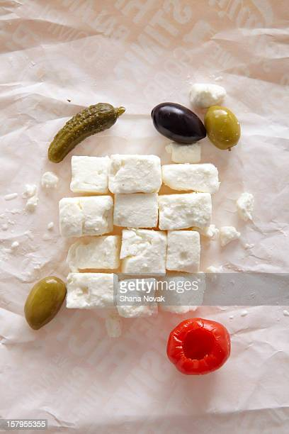 Feta Cheese Cubes with Anitpasto