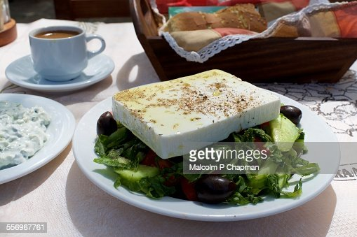 Feta Cheese Greek Salad, Lesvos, Greece