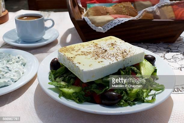 Feta Cheese Greek Salad, Lesvos, Greece