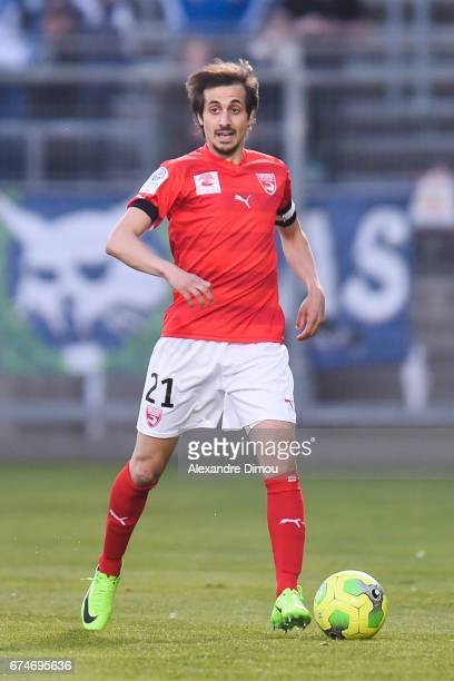 Fethi Harek of Nimes during the French Ligue 2 match between Nimes and Auxerre on April 28 2017 in Nimes France