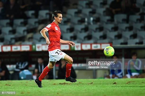 Fethi Harek of Nimes during the Ligue 2 match between Nimes Olympique and Bourg en Bresse on September 29 2016 in Nimes France