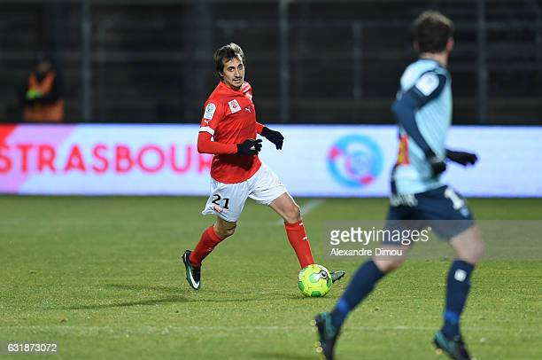 Fethi Harek of Nimes during the Ligue 2 match between Nimes Olympique and Le Havre AC on January 13 2017 in Nimes France