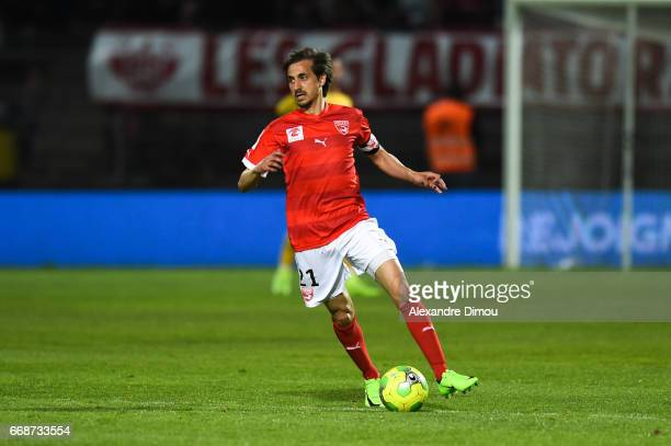 Fethi Harek of Nimes during the Ligue 2 match between Nimes Olympique and Us Orleans on April 14 2017 in Nimes France