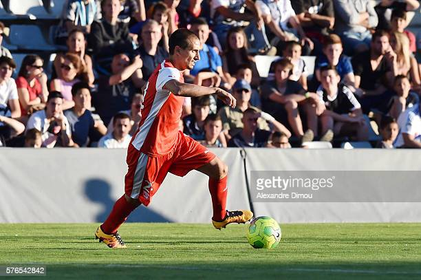 Fethi Harek of Nimes during the pre season friendly match between Nimes and Olympique de Marseille on July 15 2016 in Nimes France