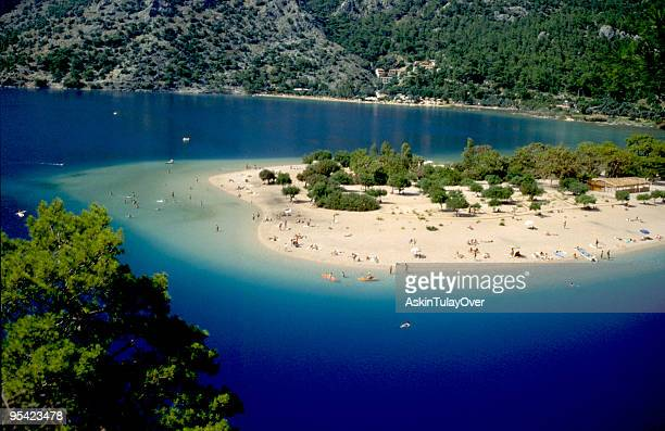 Fethiye Oludeniz Beach surrounded by blue water