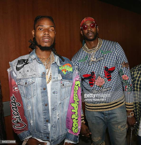 Fetty Wap and 2Chainz attend the 2016 BET Experience Staples Center Concert Presented by Sprite Performances by LIL WAYNE 2 CHAINZ TORY LANEZ A$AP...