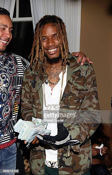 Fetty Wap attends his debut album listening party at Private Residence on September 24 2015 in New York City