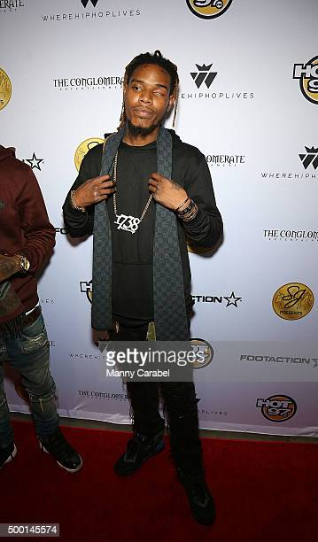 Fetty Wap attends The Conglomerate and Hot 97 Present 'Busta Ryhmes and FriendsHot For The Holiday' concert at Prudential Center on December 5 2015...