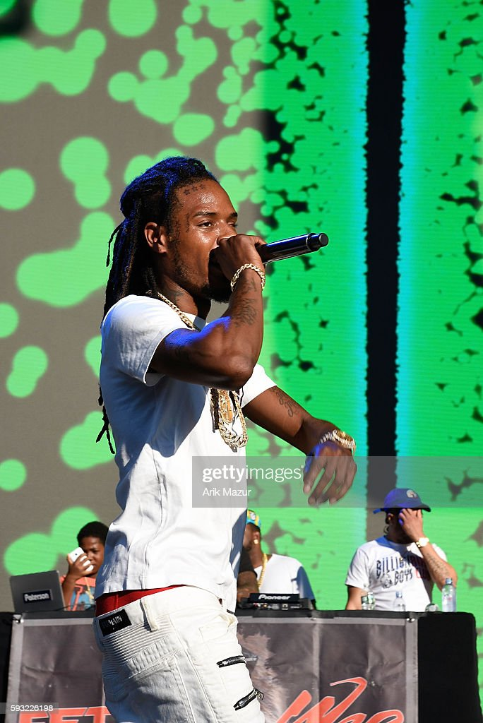Fetty Wap performs during the 2016 Billboard Hot 100 Festival at Nikon at Jones Beach Theater on August 20 2016 in Wantagh New York