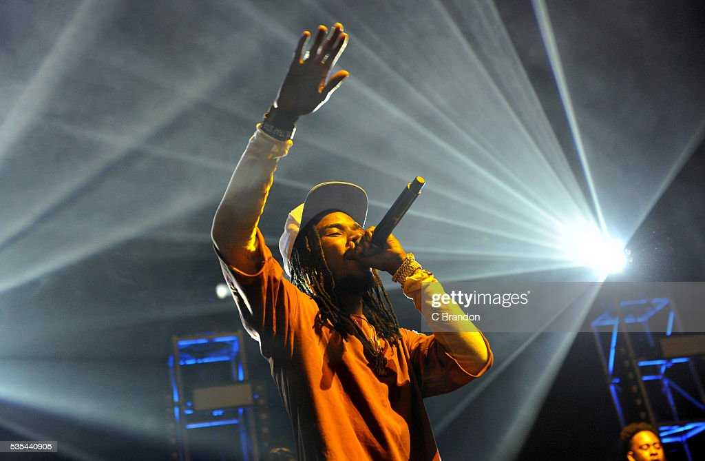 Fetty Wap performs on stage at the Eventim Apollo on May 29, 2016 in London, England.