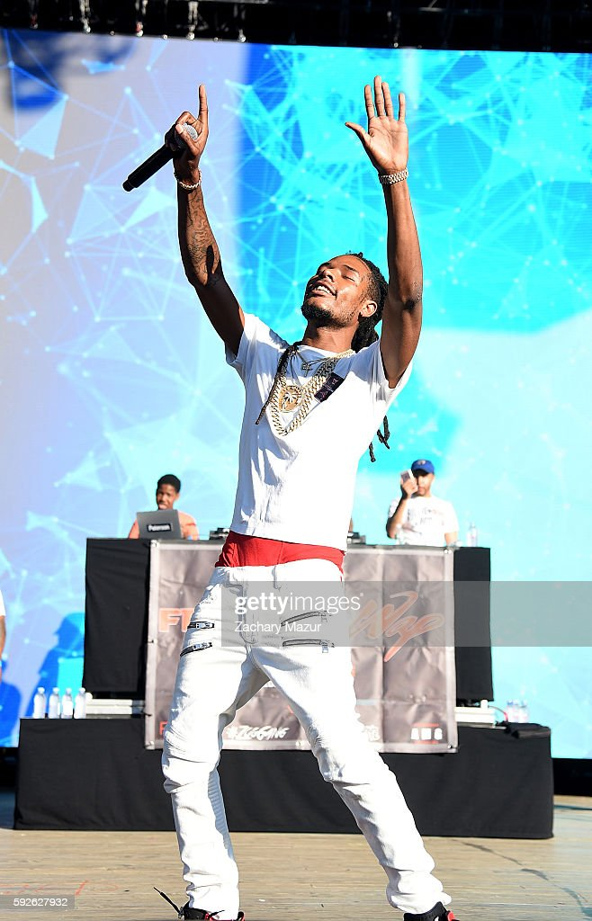 Fetty Wap performs onstage during the 2016 Billboard Hot 100 Festival at Nikon at Jones Beach Theater on August 20 2016 in Wantagh New York