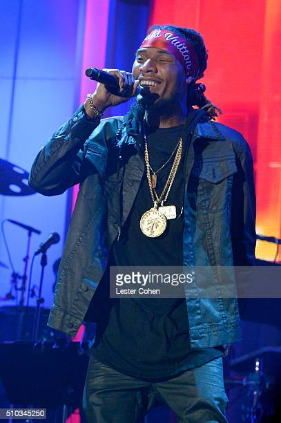 Fetty Wap performs onstage during the 2016 PreGRAMMY Gala and Salute to Industry Icons honoring Irving Azoff at The Beverly Hilton Hotel on February...