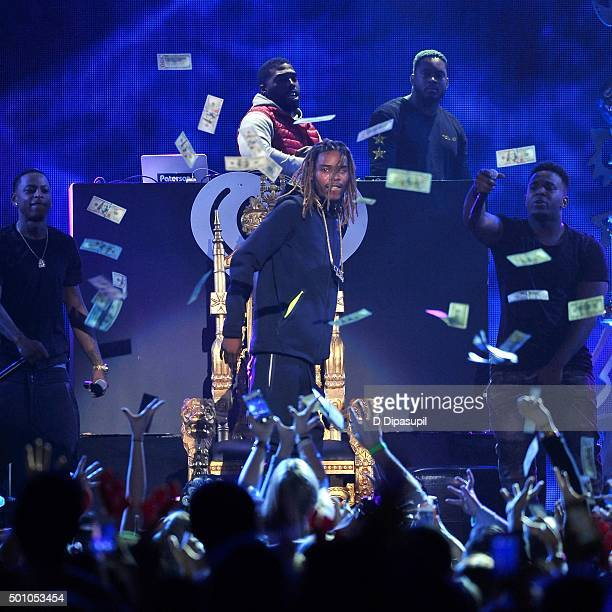 Fetty Wap performs onstage during Z100's iHeartRadio Jingle Ball 2015 at Madison Square Garden on December 11 2015 in New York City