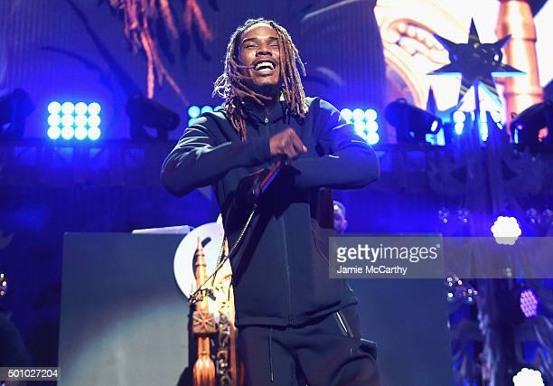 Fetty Wap performs onstage during Z100's Jingle Ball 2015 at Madison Square Garden on December 11 2015 in New York City