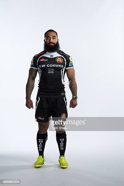 Fetuu Vainikolo of Exeter Chiefs poses for a picture during the BT Photo Shoot at Sandy Park on August 26 2014 in Exeter England