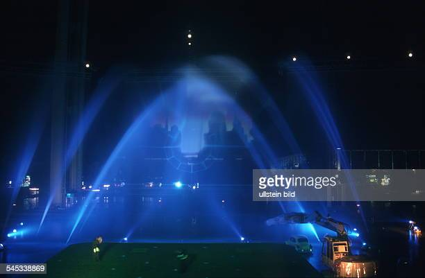 Feuer Licht und Lasershow