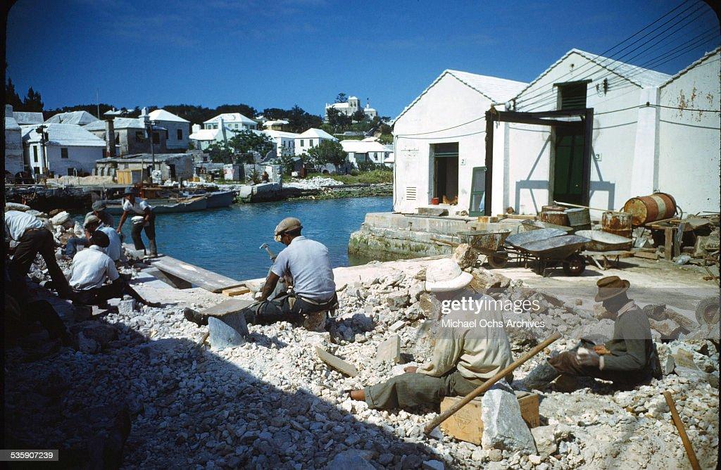 A few of workers in Bermuda.