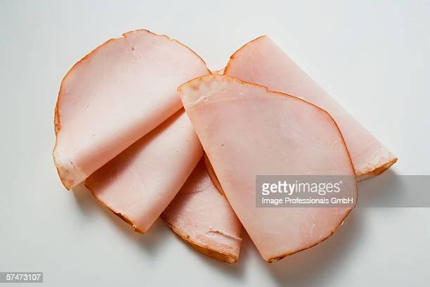 A few slices of turkey ham