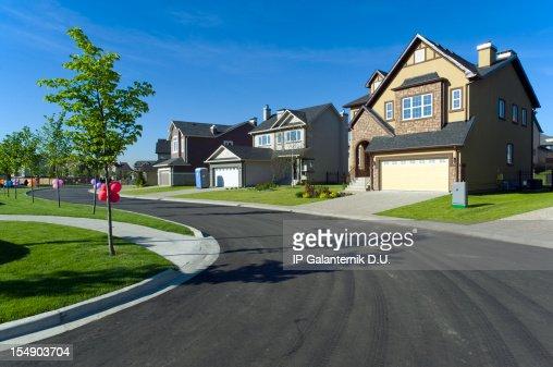 Few suburban houses