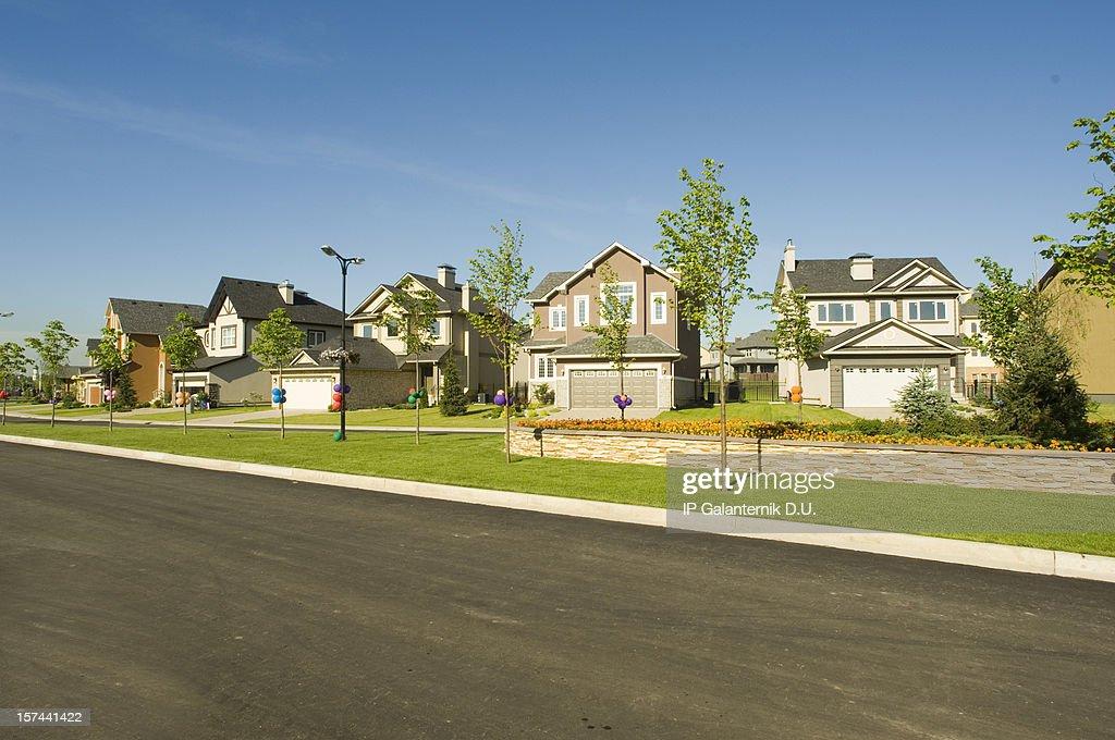 Few suburban houses.