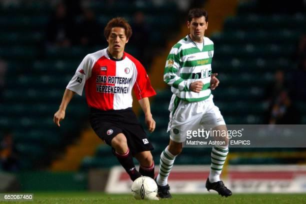 Feyenoord's Shinji Ono gets away from Celtic's Jackie McNamara