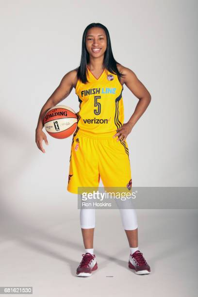 Feyonda Fitzgerald of the Indiana Fever poses for a portrait during Media Day at Bankers Life Fieldhouse on May 9 2017 in Indianapolis Indiana NOTE...