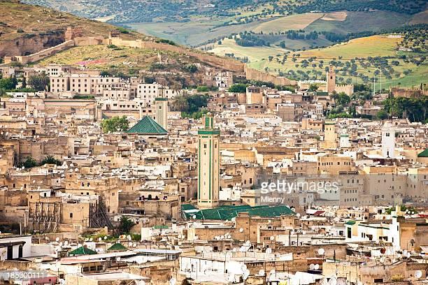 Fes cidade vista de Fes, Marrocos, Norte de África