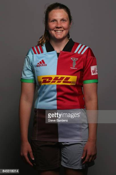 Fi Fletcher of Harlequins Ladies poses for a portrait during the Harlequins Ladies Squad Photo call for the 2017/18 Tyrrells Premier 15s Season at...