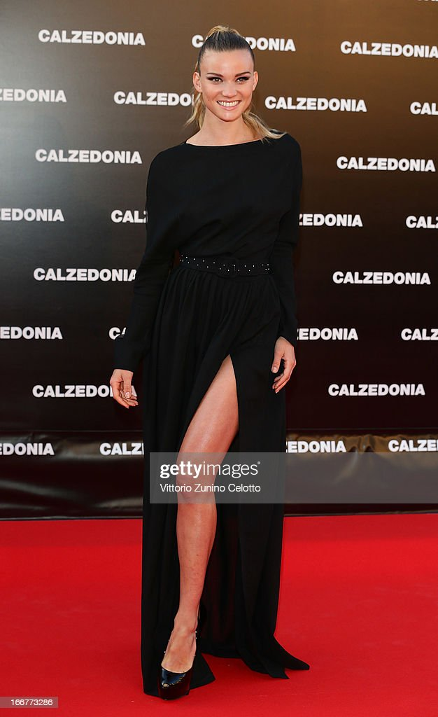 Fiammetta Cicogna attends Calzedonia Summer Show Forever Together on April 16, 2013 in Rimini, Italy.