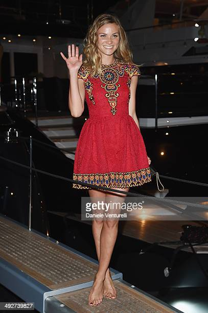 Fiammetta Cicogna attends the Roberto Cavalli yacht party at the 67th Annual Cannes Film Festival on May 21 2014 in Cannes France