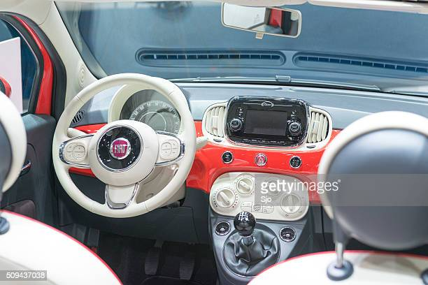 Fiat 500 compact hatchback car interior