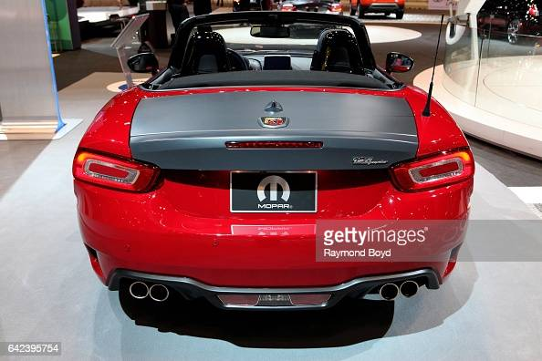 Fiat Abarth 124 Spider is on display at the 109th Annual Chicago Auto Show at McCormick Place in Chicago Illinois on February 9 2017