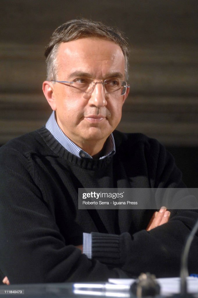 Fiat CEO <a gi-track='captionPersonalityLinkClicked' href=/galleries/search?phrase=Sergio+Marchionne&family=editorial&specificpeople=608333 ng-click='$event.stopPropagation()'>Sergio Marchionne</a> holds leadership masterclass at Villaguastavillani on April 7, 2011 in Bologna, Italy. Under plans laid out by the company's Chief Executive <a gi-track='captionPersonalityLinkClicked' href=/galleries/search?phrase=Sergio+Marchionne&family=editorial&specificpeople=608333 ng-click='$event.stopPropagation()'>Sergio Marchionne</a>, FIAT will move to increase its stake in Chrysler by 5% to 30% over the next few months with the intention of securing at least 35% by the end of 2011.