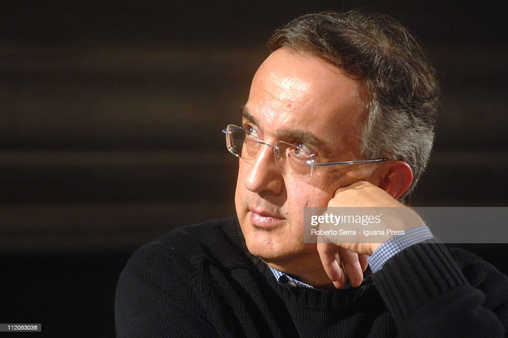 Fiat CEO <a gi-track='captionPersonalityLinkClicked' href=/galleries/search?phrase=Sergio+Marchionne&family=editorial&specificpeople=608333 ng-click='$event.stopPropagation()'>Sergio Marchionne</a> holds leadership masterclass at Villaguastavillani on April 7,2011 in Bologna, Italy. Under plans laid out by the company's Chief Executive <a gi-track='captionPersonalityLinkClicked' href=/galleries/search?phrase=Sergio+Marchionne&family=editorial&specificpeople=608333 ng-click='$event.stopPropagation()'>Sergio Marchionne</a>, FIAT will move to increase its stake in Chrysler by 5% to 30% over the coming weeks with the intention of securing 51% by the end of the year.