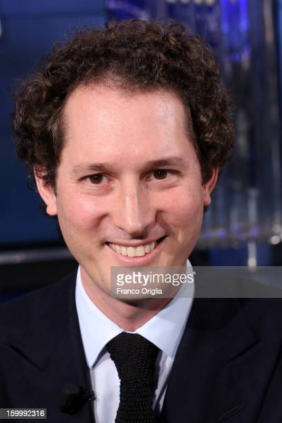 Fiat Chairman John Elkann attends 'Porta A Porta' Italian TV Show dedicated to his grandfather Giovanni Agnelli on January 24 2013 in Rome Italy...
